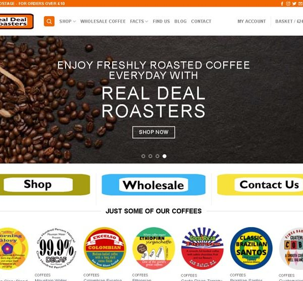 Real Deal Roasters Screenshot