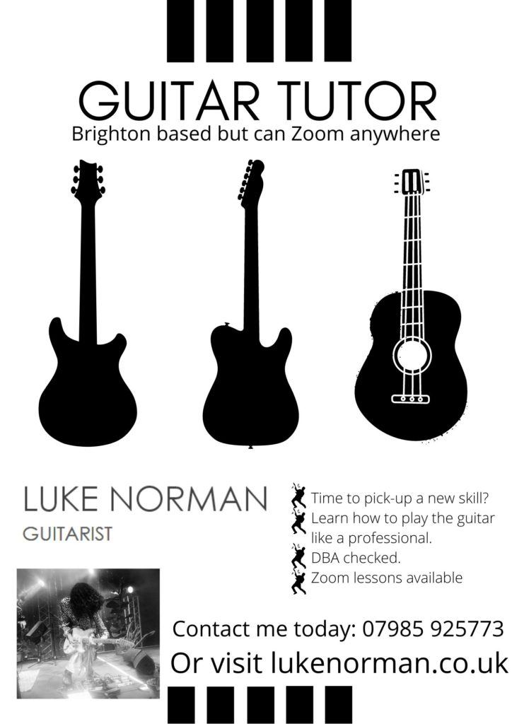 Luke Norman Guitarist Flyer