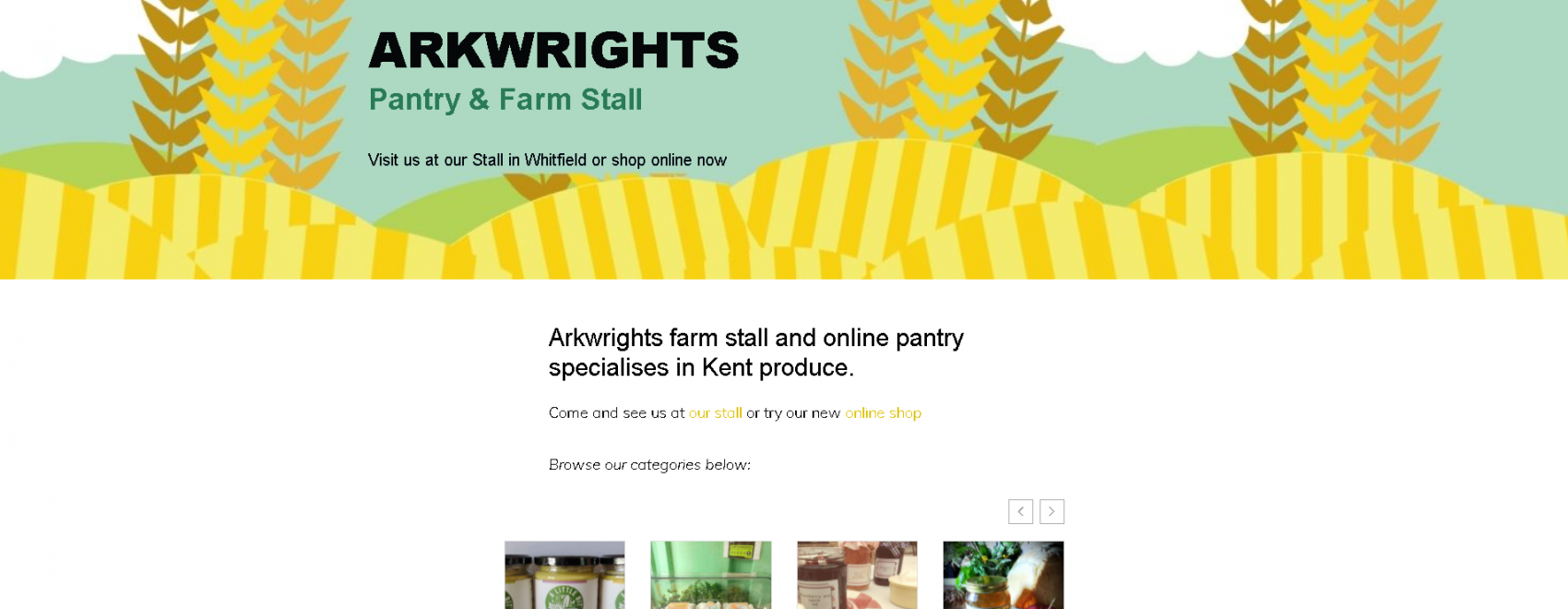 A picture of Arkwrights website